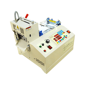 Cheap Small Computer Hot Cutting Nylon Polyester Webbing Strap Belt Automatic Roll To Sheet Cutting Machine